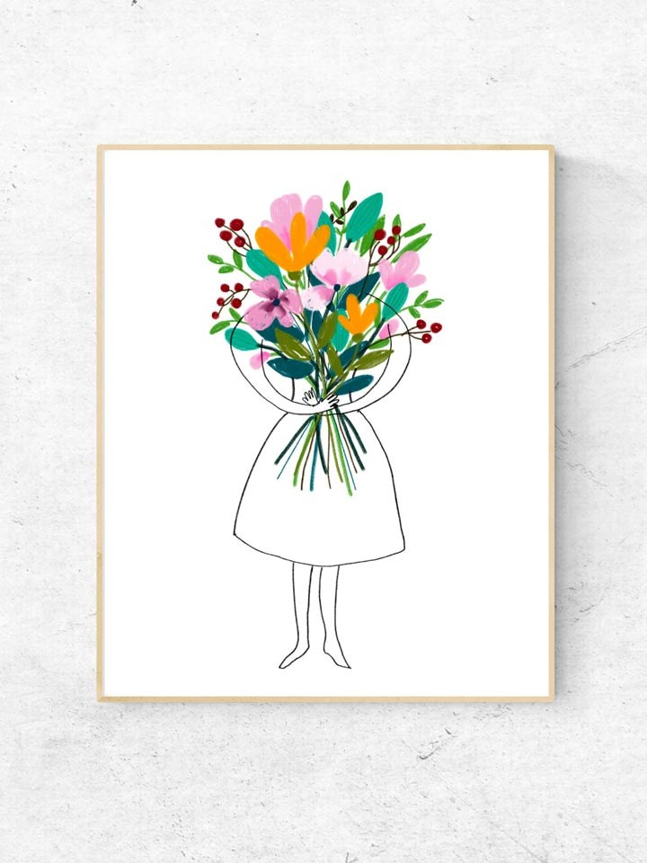 Girl_flowers_frame_pin